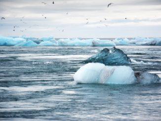 La fonte des glaciers, caractéristique du rechauffement climatique