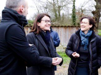 Emmanuelle Wargon, lors d'une visite à Emmanuelle Wargon · 19 février · À Montreuil-le-Gast.