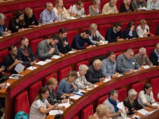 Une session de la Convention citoyenne pour le climat au Conseil economique et social à Paris, en octobre 2019.