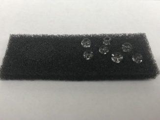 Un prototype de l'« OHM sponge », l'éponge intelligente des chercheurs du Northwestern University (États-Unis).