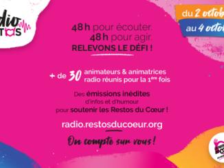 Affiche des Restos du coeur sur la webradio.