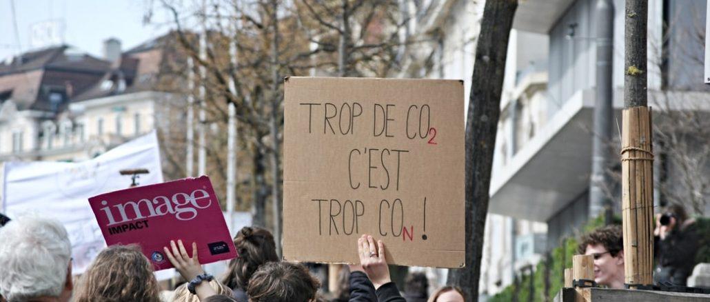 Grève du climat à Lausanne, en Suisse, en avril 2019 (Photo : Unsplash).